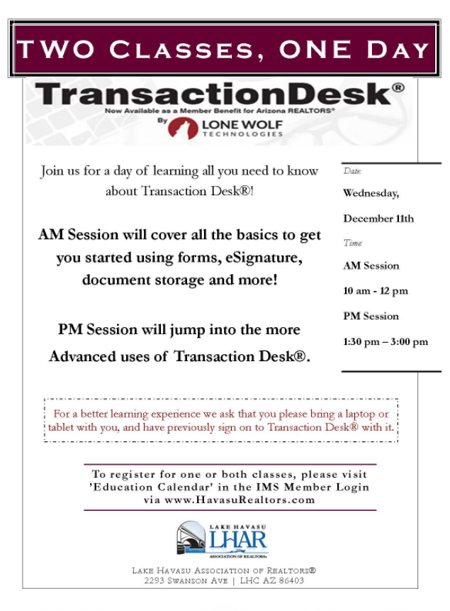 TransactionDesk Flyer 12.11.19